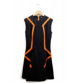 Y-3(ワイスリー)の古着「WLUX H DRESSワンピース」|ブラック×オレンジ