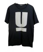 UNDERCOVER(アンダーカバー)の古着「UロゴTシャツ」|ブラック