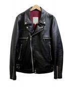 UNDERCOVER(アンダーカバー)の古着「UISMライダースジャケット」|ブラック