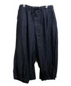 YOHJI YAMAMOTO(ヨウジ ヤマモト)の古着「カラスパンツ」 インディゴ