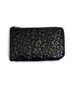 marimekko(マリメッコ)の古着「エンボスウニッコL字型財布」|ブラック