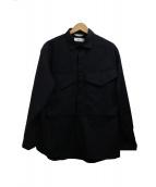 WORK NOT WORK(ワークノットワーク)の古着「ユーティリティシャツジャケット」|ブラック