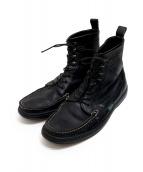 PARABOOT(パラブーツ)の古着「モカシンブーツ」|ブラック