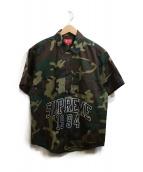 Supreme(シュプリーム)の古着「Arc Logo S/S Work Shirt」|カーキ