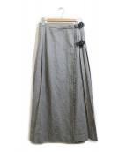 BEAMS BOY(ビームスボーイ)の古着「ベルト付スカート」|ライトグレー