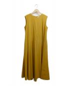 ENFOLD(エンフォルド)の古着「フリルブラウスドレス」|イエロー