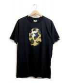 A BATHING APE(ア ベイシング エイプ)の古着「プリントTシャツ」|ブラック