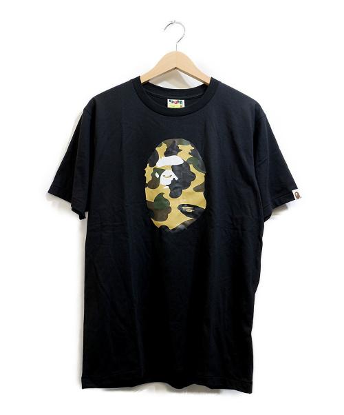A BATHING APE(ア ベイシング エイプ)A BATHING APE (ア ベイシング エイプ) プリントTシャツ ブラック サイズ:Mの古着・服飾アイテム