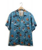 AZUMA(アズマ)の古着「EFFECTOR PAJAMA SHIRT」|ブルー