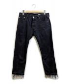 OLD PARK(オールドパーク)の古着「カットオフジーンズ」|ブラック