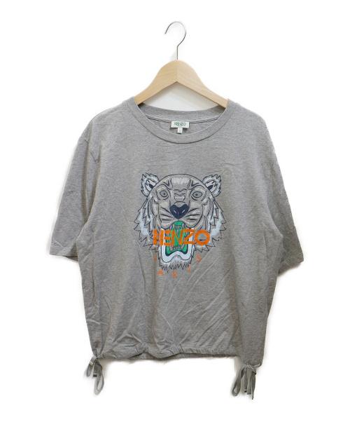 KENZO(ケンゾー)KENZO (ケンゾー) Tiger Drawstrings Tee グレー サイズ:Ⅼの古着・服飾アイテム