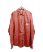 CARNEBOLLENTE(カルネボレンテ)の古着「刺繍シャツ」|レッド