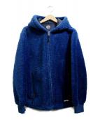 COOTIE PRODUCTIONS(クーティー プロダクツ)の古着「フリースパーカー」|ブルー