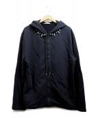 HELMUT LANG(ヘルムートラング)の古着「スタッズジップパーカー」|ブラック