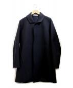WRAPINKNOT(ラッピンノット)の古着「ボンディングジャージーコート」|ネイビー
