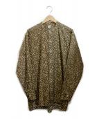 KAPTAIN SUNSHINE(キャプテン サンシャイン)の古着「Band Collar Shirt」|ベージュ