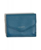 PELLE MORBIDA(ペッレモルビダ)の古着「3つ折り財布」|ブルー