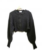 holiday(ホリデイ)の古着「mix knit cardigan」|グレー