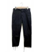 OLD PARK(オールドパーク)の古着「SLIT PANT」|ブラック