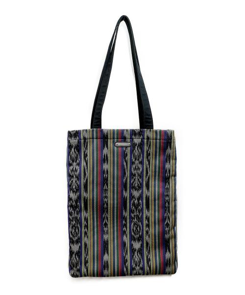 Saint Laurent Paris(サンローランパリ)Saint Laurent Paris (サンローランパリ) Antibe ikat canvas tote bag マルチカラーの古着・服飾アイテム