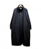 EAR(イア)の古着「リブ衿サイドジップコート」|ブラック