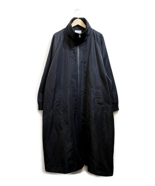 EAR(イア)EAR (イア) リブ衿サイドジップコート ブラック サイズ:Fの古着・服飾アイテム