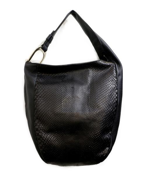 GUCCI(グッチ)GUCCI (グッチ) グリニッチワンショルダーバッグ ブラック  パイソンレザーの古着・服飾アイテム