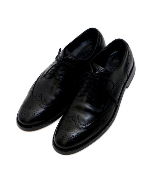 COLE HAAN(コールハーン)COLE HAAN (コールハーン) ウィングチップシューズ ブラック サイズ:9の古着・服飾アイテム