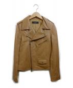 allureville(アルアバイル)の古着「ラムレザーライダースジャケット」|キャメル