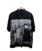 FLAGSTUFF(フラグスタフ)の古着「切替オープンカラーシャツ」|ブラック