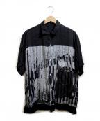 flagstuff()の古着「切替オープンカラーシャツ」|ブラック