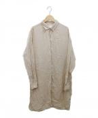 ARMEN(アーメン)の古着「シャツワンピース」|ベージュ