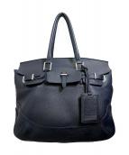PELLE MORBIDA(ペッレモルビダ)の古着「2WAYバッグ」|ネイビー