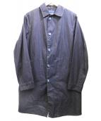 ()の古着「ステンカラーコート」|ネイビー