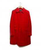 Paul Smith BLACK(ポールスミスブラック)の古着「ウールステンカラーコート」|レッド