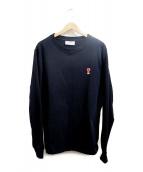 AMI Alexandre Mattiussi(アミ アレクサンドル マテュッシ)の古着「 Long Sleeves Cotton Logo」|ブラック