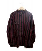 Needles(ニードルス)の古着「Chore Coat-Aizu Tsumugi」|ブラック×レッド
