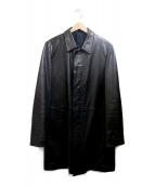 JIL SANDER(ジルサンダー)の古着「レザーコート」|ブラック