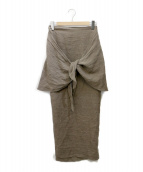 little Suzie(リトル スージー)の古着「2way Linen Knot Skirt」|ブラウン