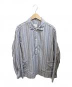 POST OALLS(ポストオーバーオールズ)の古着「プルオーバーシャツ」|ネイビー