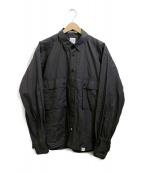 BEDWIN &THE HEARTBREAKERS(ベドウィンアンドザ ハートブレイカーズ)の古着「ミリタリーシャツ」|チャコールグレー