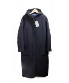 SHIPS(シップス)の古着「SUPER140ビッグフードコート」|ブラック
