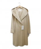NATURAL BEAUTY(ナチュラルビューティー)の古着「フーデッドコート」 ベージュ