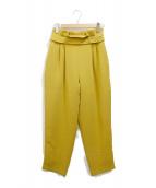 RIM.ARK(リムアーク)の古着「サイドタックパンツ」|イエロー