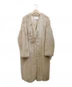 UNITED ARROWS()の古着「エコファーコート」 ベージュ
