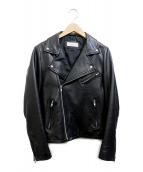 simplicite(シンプリシテェ)の古着「ダブルライダースジャケット」|ブラック