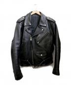 FREEDOM(フリーダム)の古着「ダブルライダースジャケット」|ブラック