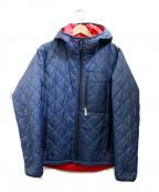 Battenwear(バテンウェア)の古着「キルティング中綿ジャケット」 ネイビー
