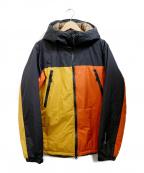 Manastash(マナスタッシュ)の古着「プリマロフトジャケット」 オレンジ×ブラック