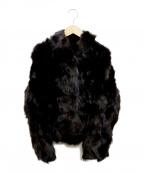 ノーブランド(ノーブランド)の古着「フォックスファージャケット」 ブラウン